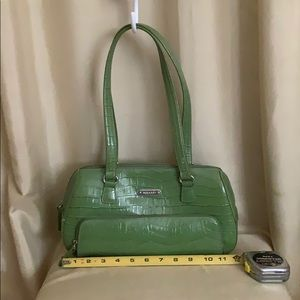 "Rosetti ""Vegan Alligator "" green bag"